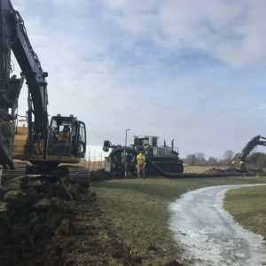 drainage project in progress