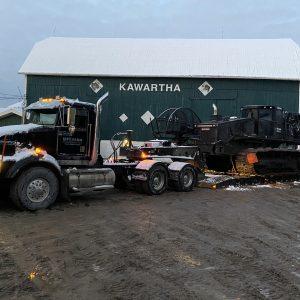 MF Farm Drainage Equipment on jobsite